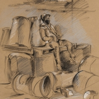 Man with Barrels