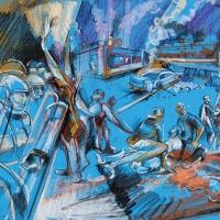 Freddie Gray Baltimore Riots II (study)
