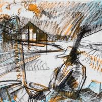 Alfalfa Cutting Around Suburban Sprawl (Sketch)
