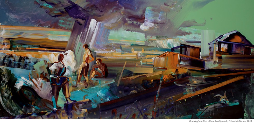 Cunningham Fire, Steamboat