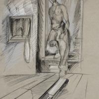 Boy in Doorframe