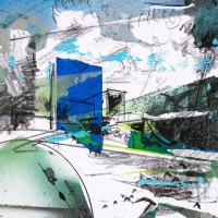 Untited_35_8.5x11_graphite_and_masked_spray_paint_on_paper_2020