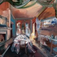 04 Homewood House Dining Room, Set for Dinner, 1820