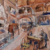 University of Pennsylvania: Furness Library Interior with Joseph Wharton as a Mentor2