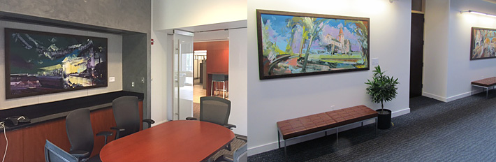 paintings by david brewster at Wharton Business School
